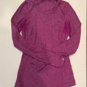 Lululemon long sleeve pink purple shirt ruffle